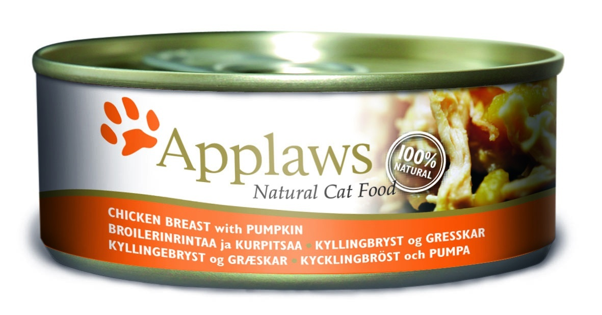 Консервы Applaws, для кошек, с куриной грудкой и тыквой, 156 г24358Каждая баночка Applaws содержит порцию свежего мяса, приготовленного в собственном бульоне. Для приготовления любого типа консервов используется мясо животных свободного выгула, выращенных на фермах Англии. В состав каждого рецепта входит только три/четыре основных ингредиента и ничего более. Не содержит ГМО, синтетических консервантов или красителей. Не содержит вкусовых добавок.Состав: филе куриной грудки 50%, куриный бульон 24%, тыква 24%, рис 1%.Анализ: белок 13 %, клетчатка 1 %, жиры 0,2 %, зола 2 %, влага 82%.Товар сертифицирован.