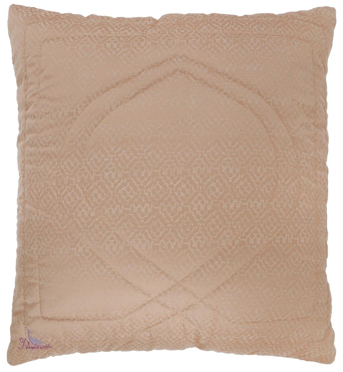 """Чехол подушки Primavelle """"Сamel Premium"""" выполнен из 100% тенсела. Наполнитель подушки состоит из верблюжьего пуха (95%) и вискозы (5%). Стежка надежно удерживает наполнитель внутри и не позволяет ему скатываться.  Верблюжий пух – подшерсток верблюжат в возрасте до одного года, который вычесывается вручную. Верблюжий пух превосходит по своим характеристикам шерсть верблюда. Пух более нежный, воздушный, более легкий, но при этом лучше удерживает тепло и обеспечивает идеальную терморегуляцию во время сна.       При этом пух обладает всеми свойствами, которые присущи шерсти верблюда: воздухопроницаемость, высокий согревающий эффект, эффект сухого тепла, косметический и лечебный эффект.    Подушка упакована в тканевый чехол на змейке с ручкой, что является чрезвычайно удобным при переноске.   Рекомендации по уходу: - Допускается стирка при 30 градусах, - Нельзя отбеливать. При стирке не использовать средства, содержащие отбеливатели (хлор),  - Не гладить. Не применять обработку паром, - Химчистка с использованием углеводорода, хлорного этилена, - Нельзя выжимать и сушить в стиральной машине.  Размер подушки: 68 см х 68 см.  Материал чехла: 100% тенсел.  Материал наполнителя: внешний - 95% верблюжий пух, 5% вискоза, внутренний - микроволокно Filium (100% полиэстер)."""