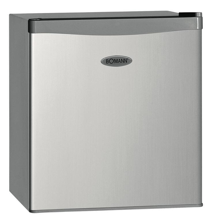 Bomann KB 389 A++/43L, Silver холодильникKB 389 silber A++/43LРазмеры:высота (см): 51, ширина (см): 43.9, глубина (см): 47Общий объем/ Полезный объем:Холодильника (л): 43/42Холодильной камеры (л): 37/36Морозильной камеры (л): 6/6Класс энергопотребления: A++Климатический класс: N-T (от +16°С до +43°С)Количество компрессоров: 1Холодильное отделение:1 полкаПлавная регулировка температуры в диапазоне от 0 до +8 °CРазмораживание: ручноеМорозильное отделение:Лоток для льдаДополнительная информация:Перенавешиваемая дверцаРегулируемые ножкиУровень шума: 42 дБХладагент: R600aВес нетто: 14 кгМощность: 70 Вт