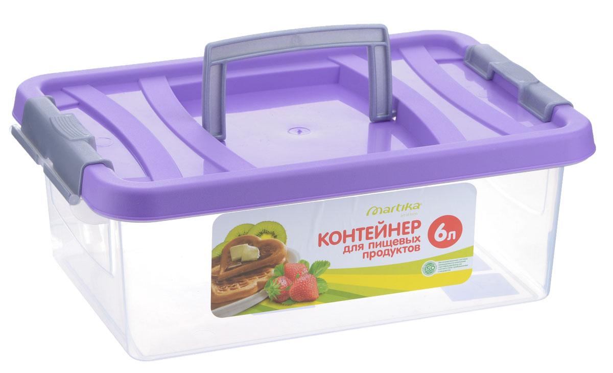 """Контейнер """"Martika"""" прямоугольной формы предназначен специально для хранения пищевых  продуктов. Устойчив к воздействию масел и жиров, легко моется. Крышка легко открывается  и плотно закрывается. Имеются удобные ручки.  Прозрачные стенки позволяют видеть содержимое. Контейнер имеет возможность хранения  продуктов глубокой заморозки, обладает высокой прочностью. Контейнер необыкновенно удобен:  его можно  брать на пикник, за город, в поход.   Можно мыть в посудомоечной машине."""