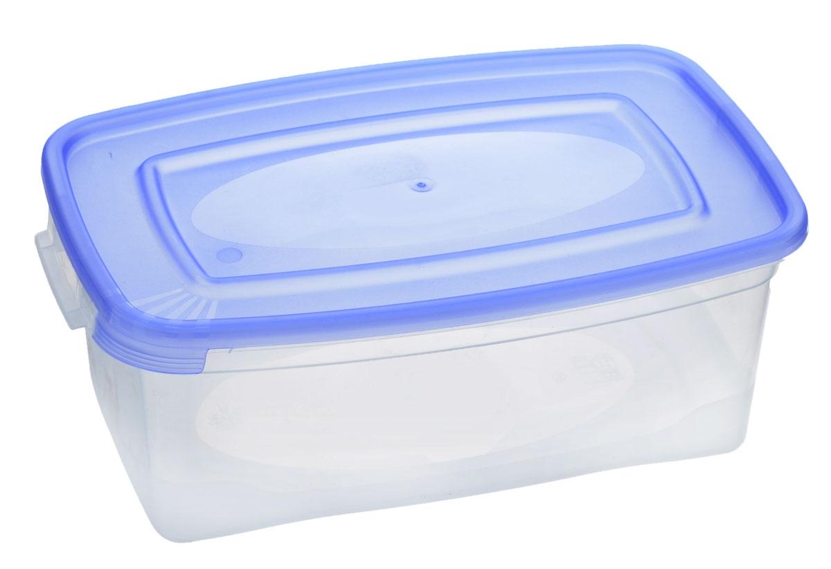 Контейнер Полимербыт Каскад, цвет: прозрачный, голубой, 1 л. С570С570_голубойКонтейнер Полимербыт Каскад прямоугольной формы, изготовленный из прочного пластика, предназначен специально для хранения пищевых продуктов. Крышка легко открывается и плотно закрывается.Контейнер устойчив к воздействию масел и жиров, легко моется. Прозрачные стенки позволяют видеть содержимое. Контейнер имеет возможность хранения продуктов глубокой заморозки, обладает высокой прочностью.Подходит для использования в микроволновых печах. Можно мыть в посудомоечной машине.