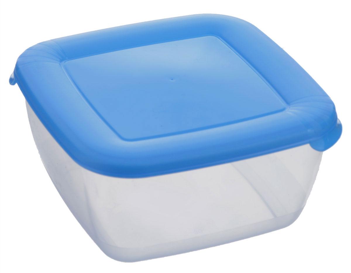 Контейнер Полимербыт Лайт, цвет: прозрачный, голубой, 1,5 лС543_голубойКонтейнер Полимербыт Лайт квадратной формы, изготовленный из прочного пластика, предназначен специально для хранения пищевых продуктов. Крышка легко открывается и плотно закрывается.Контейнер устойчив к воздействию масел и жиров, легко моется. Прозрачные стенки позволяют видеть содержимое. Контейнер имеет возможность хранения продуктов глубокой заморозки, обладает высокой прочностью. Можно мыть в посудомоечной машине. Подходит для использования в микроволновых печах.