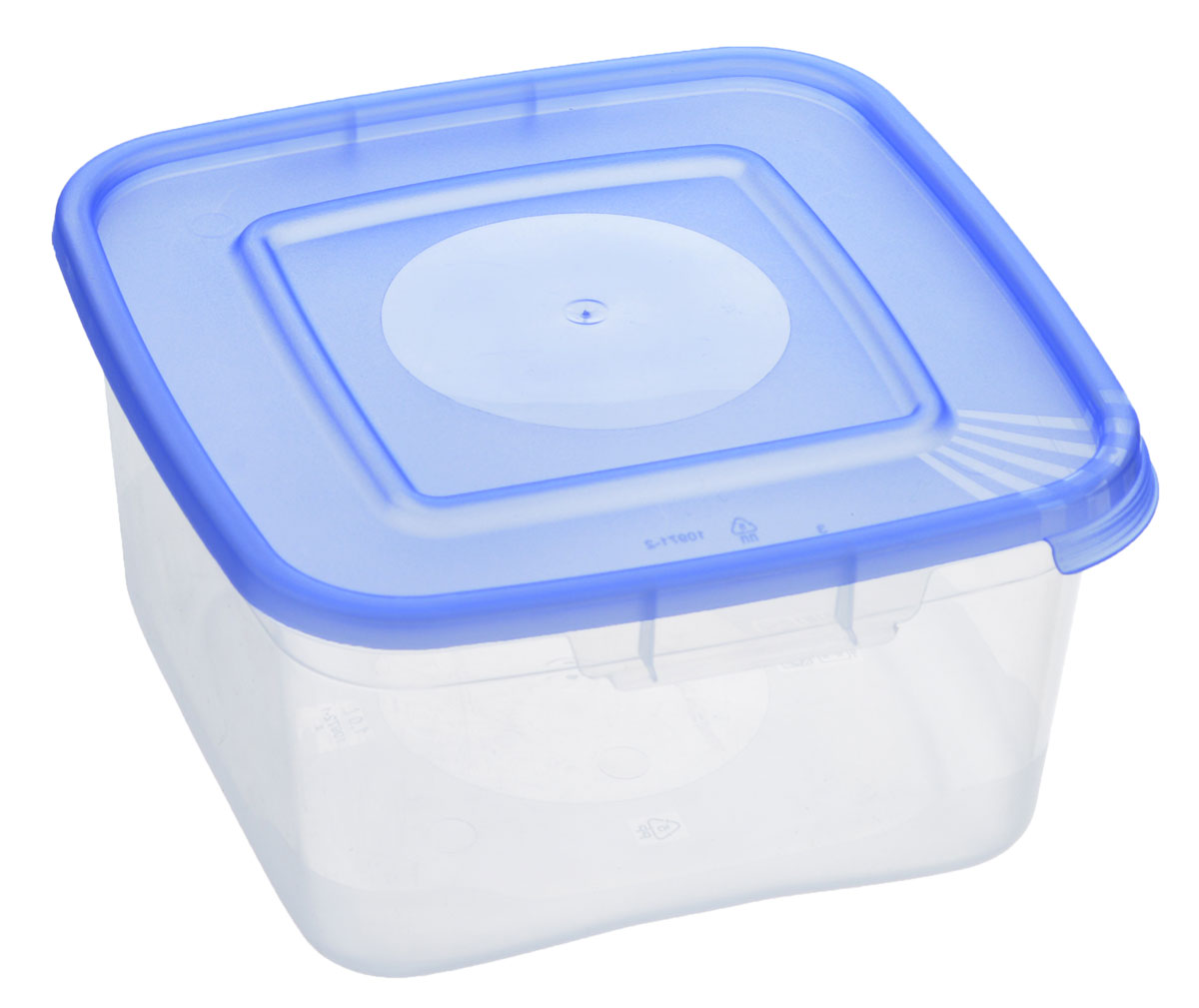 Контейнер Полимербыт Каскад, цвет: прозрачный, голубой, 1 лС670_голубойКонтейнер Полимербыт Каскад квадратной формы, изготовленный из прочного пластика, предназначен специально для хранения пищевых продуктов. Крышка легко открывается и плотно закрывается.Контейнер устойчив к воздействию масел и жиров, легко моется. Прозрачные стенки позволяют видеть содержимое. Контейнер имеет возможность хранения продуктов глубокой заморозки, обладает высокой прочностью. Можно мыть в посудомоечной машине. Подходит для использования в микроволновых печах.