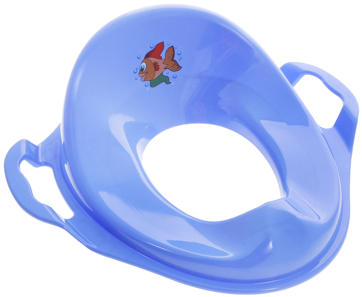 Idea Накладка на унитаз детская Рыбка, цвет: сиреневыйМ 2593_сиреневыйДетская накладка на унитаз Idea Рыбка, выполненная из пластика сиреневого цвета с изображением рыбки, сделает процесс приучения ребенка к взрослому унитазу быстрым и комфортным. Накладка имеет анатомическую форму сиденья. Гигиеничное моющееся покрытие обеспечит максимальный комфорт малышу. Удобные ручки позволят ребенку сохранять равновесие.