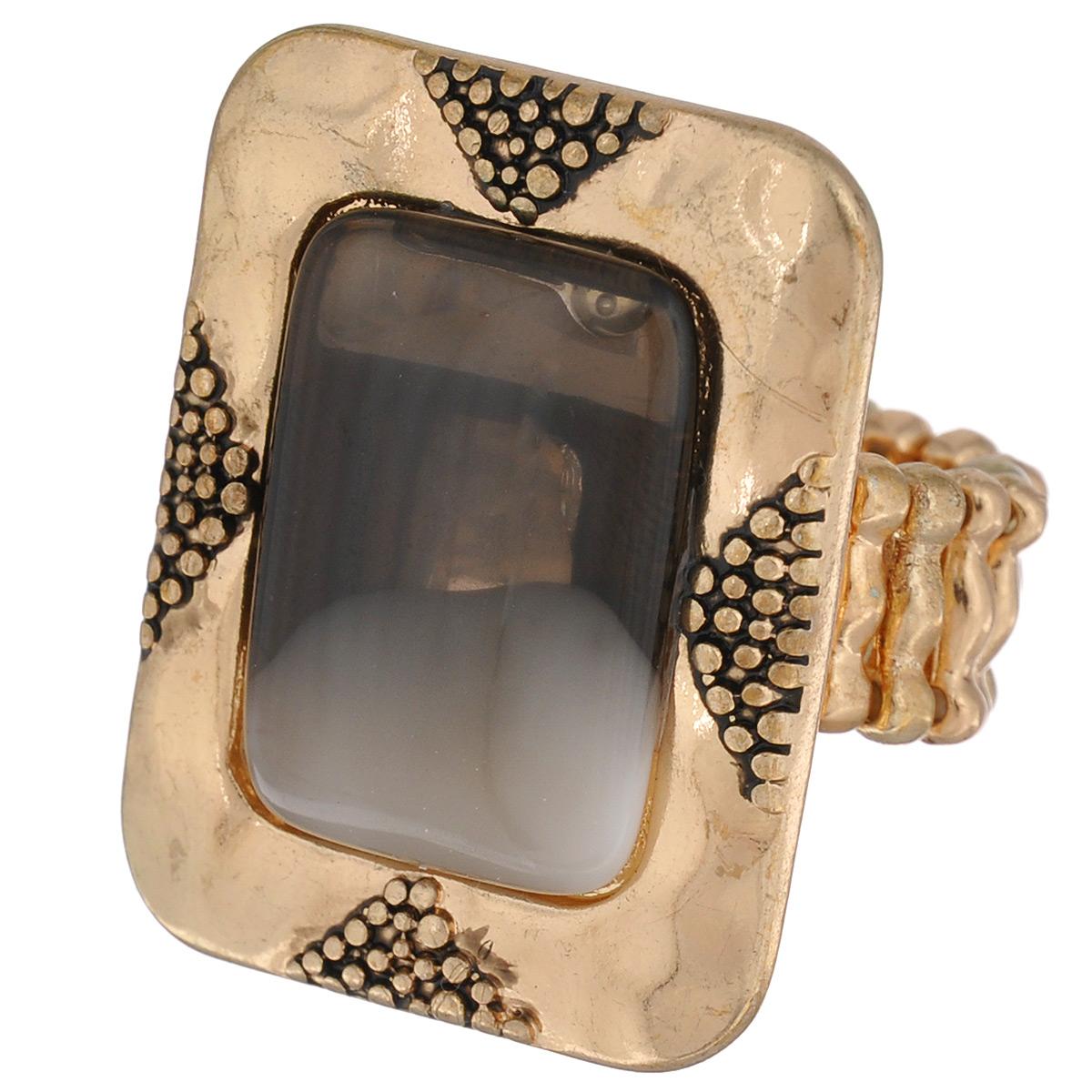Кольцо Avgad, цвет: золотистый. EA178JW168Коктейльное кольцоОригинальное кольцо Avgad выполнено из ювелирного сплава. Изделие оформлено рельефным узором и вставкой из акрила. Элементы кольца соединены с помощью тонкой резинки, благодаря этому оно легко одевается и снимается. Размер универсальный. Кольцо позволит вам с легкостью воплотить самую смелую фантазию и создать собственный, неповторимый образ.