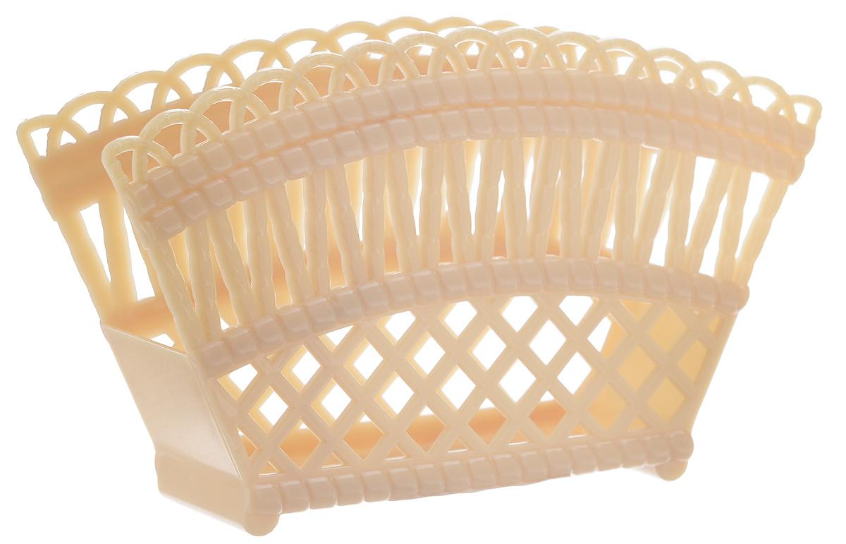 """Салфетница Альтернатива """"Семь злаков"""" изготовлена из высококачественного пластика и оформлена оригинальным орнаментом. Такая салфетница станет не только украшением любого стола, но и отличным подарком.  Размер салфетницы: 16 см х 9 см х 4 см."""