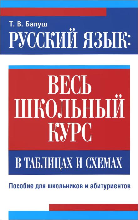 купить Т. В. Балуш Русский язык. Весь школьный курс в таблицах и схемах по цене 153 рублей