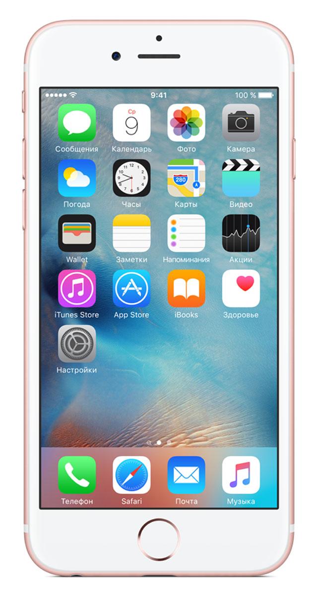 Apple iPhone 6s 128GB, RoseMKQW2RU/AApple iPhone 6s - смартфон, едва начав пользоваться которым, вы сразу почувствуйте, насколько все изменилось к лучшему. Технология 3D Touch открывает потрясающие новые возможности - достаточно одного нажатия. А функция Live Photos позволяет буквально оживить ваши воспоминания. И это только начало. Присмотритесь к iPhone 6s внимательнее, и вы увидите инновации на всех уровнях.Новое поколение Multi-TouchС появлением iPhone мир узнал о технологии Multi-Touch, которая навсегда изменила способ взаимодействия с устройствами. Технология 3D Touch открывает совершенно новые возможности. Она позволяет различать силу нажатия на дисплей, что делает многие функции быстрее и удобнее. Кроме того, телефон реагирует на каждый жест лёгким тактильным откликом благодаря использованию нового привода Taptic Engine.12-мегапиксельные фотографии. Видео 4К. Live Photos12-мегапиксельная камера iSight делает чёткие и детальные снимки, а также позволяет снимать потрясающие видео 4K с разрешением почти в четыре раза больше, чем в HD-видео 1080p. А 5-мегапиксельная HD-камера FaceTime позволяет делать отличные селфи. Кроме того, теперь у вас есть возможность снимать Live Photos, на которых буквально оживают самые дорогие воспоминания. Эта функция записывает несколько мгновений до и после съёмки фотографии, что позволяет посмотреть её в движении, сделав одно нажатие.A9. Самый передовой процессор для смартфонаiPhone 6s оснащён специально разработанным процессором A9 с 64-битной архитектурой. Теперь его производительность достигает уровня, который раньше демонстрировали только настольные компьютеры. Скорость процессора iPhone 6s до 70% выше, чем у моделей предыдущего поколения, а графический процессор работает на 90% быстрее, обеспечивая мгновенный отклик в ресурсоёмких приложениях и играх.Выдающийся дизайнИнновации не всегда очевидны, но присмотревшись к iPhone 6s внимательнее, вы увидите фундаментальные перемены. Корпус изготовлен из нового сплава на основе алюми