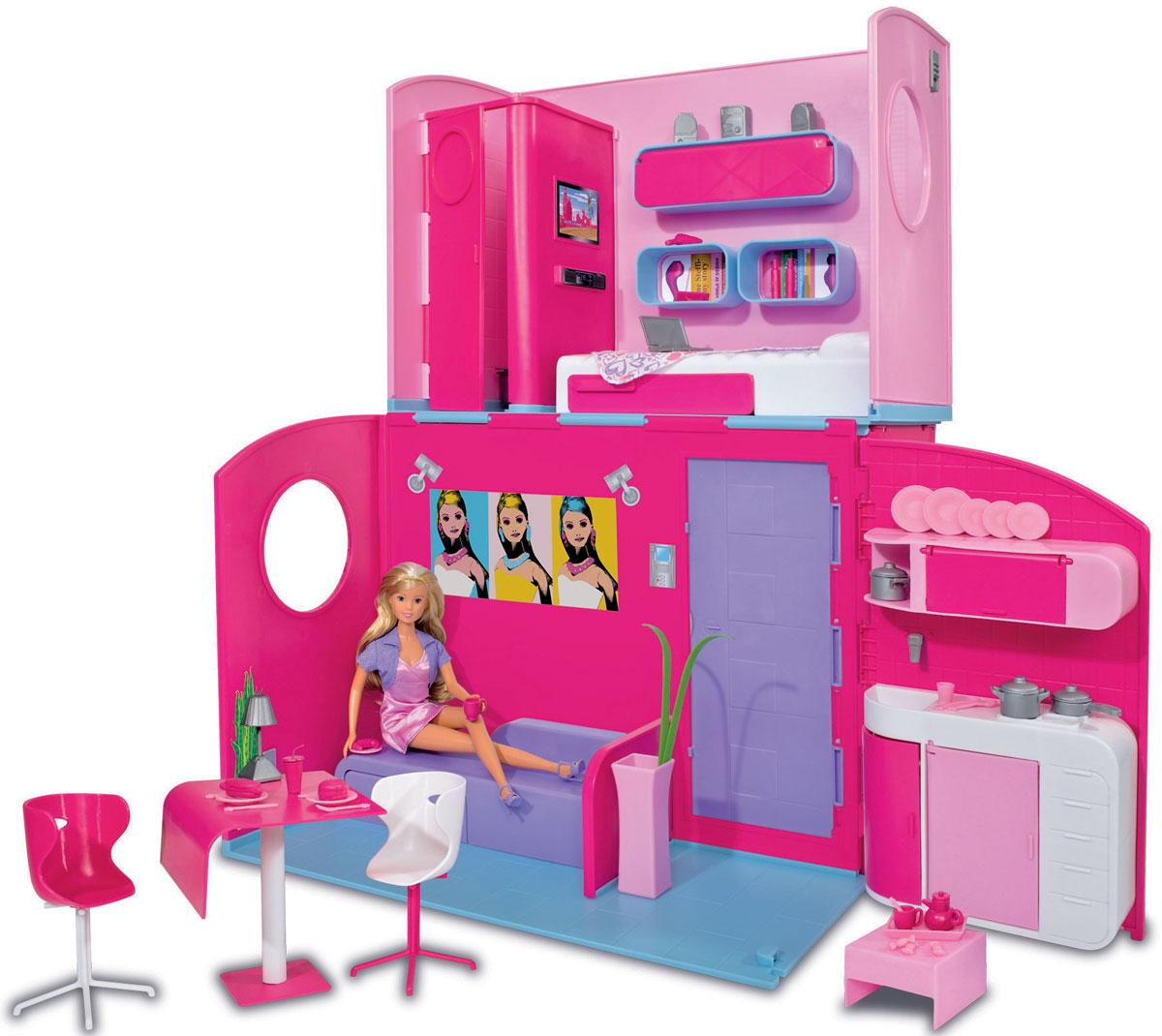 Фото Simba Дом для кукол Штеффи в двухэтажном складывающемся доме. Покупайте с доставкой по России