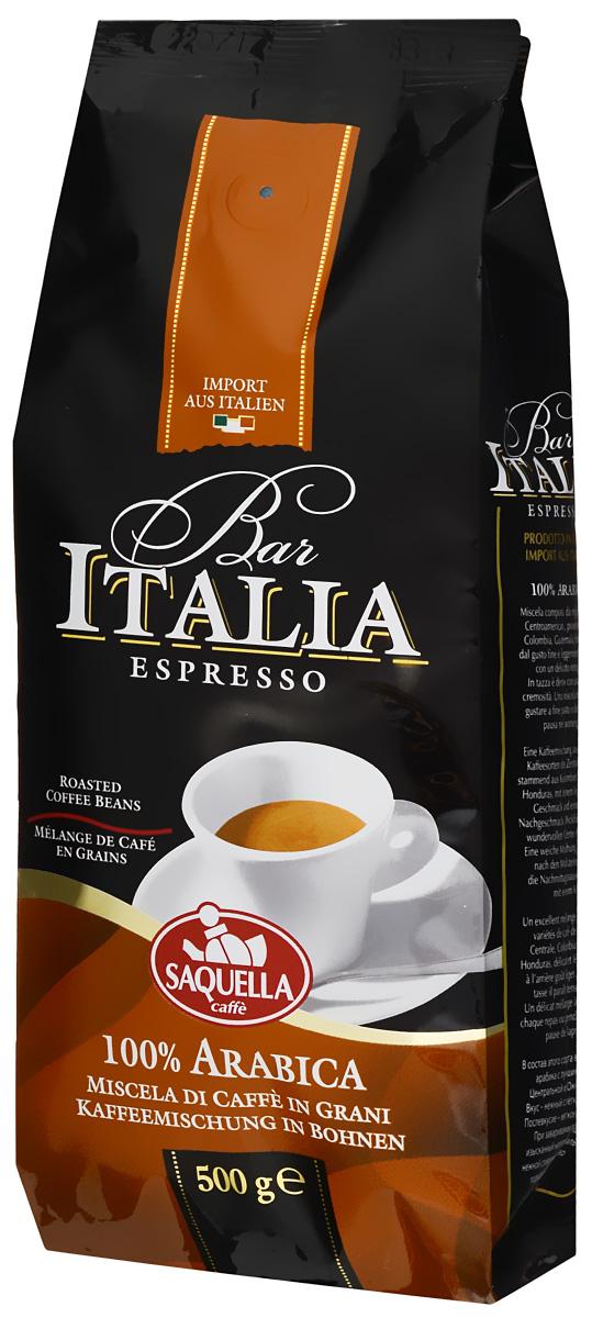 Saquella Bar Italia Arabica кофе в зернах, 500 г8002650000784В состав Saquella Bar Italia Arabica входит отборная арабика с лучших плантаций Центральной и Южной Америки. Вкус - удивительно нежный с легкой кислинкой. Послевкусие этого кофе - мягкое и деликатное. При заваривании получается изысканный напиток, обладающий нежной сливочной пенкой. Идеально подходит для кофе-брейка во второй половине дня.