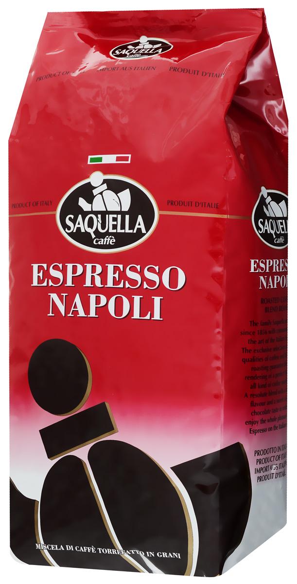 Saquella Espresso Napoli кофе в зернах, 1000 г8002650000333Saquella Espresso Napoli - это смесь, которая создана на основе лучших сортов Бразильской и Центральноамериканской арабики и Африканской робусты. Сорт отличает средняя плотность и мягкая винная терпкость.