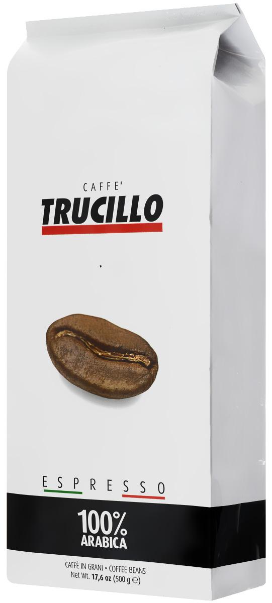 Trucillo Espresso Arabica кофе в зернах, 500 г8004715009008Trucillo Espresso Arabica - тщательно подобранная смесь 100% арабики высочайшего качества. Нотки шоколада и ванили, дополненные лёгкими штрихами миндаля, экзотических фруктов и цветов. Классический итальянский эспрессо с великолепно сбалансированным вкусом и ароматом.