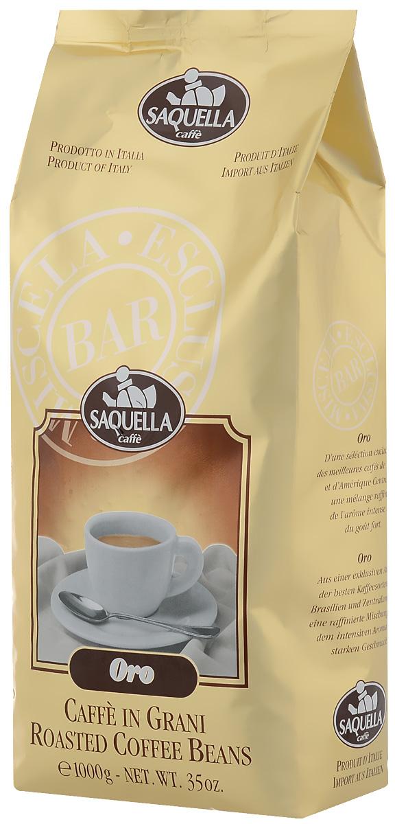 Saquella Oro кофе в зернах, 1000 г saquella bar italia gran gusto кофе в зернах 500 г