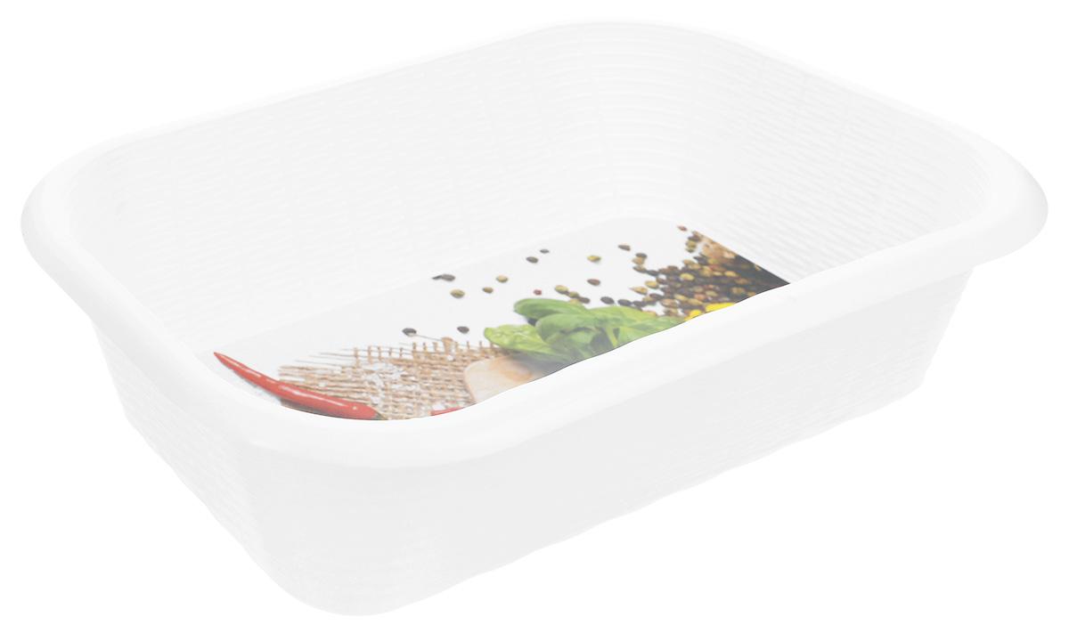 Корзина универсальная Phibo, цвет: белый, красный, зеленый, 34,2 х 22 х 8,7 смС12810_белый, красный, зеленый/перецУниверсальная корзина Phibo изготовлена из высококачественного пластика и предназначена для хранения продуктов, овощей и многого другого. Дно изделия декорировано ярким рисунком. Элегантный, выдержанный дизайн позволяет органично вписаться в ваш интерьер и стать его элементом.Размер корзины (по верхнему краю): 34,2 х 22 см.Высота корзины: 8,7 см.