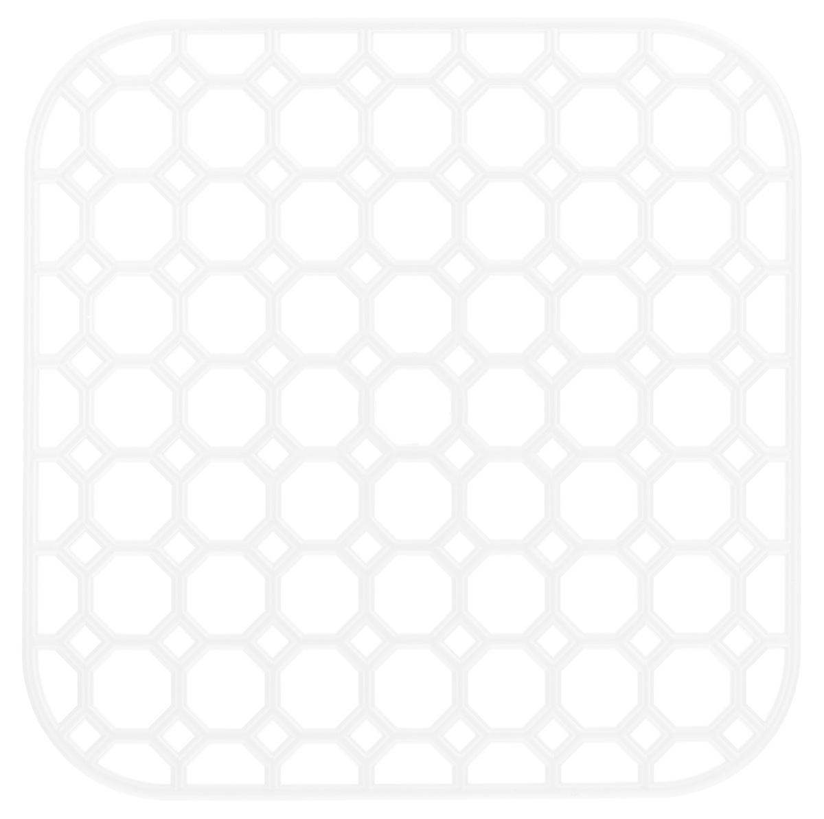 Коврик для раковины Idea, цвет: белый, 26 см х 26 смМ 1150_белыйСтильный и удобный коврик для раковины Idea выполнен из высококачественного прочного полипропилена. Он одновременно выполняет несколько функций: украшает, предотвращает появление на раковине царапин и сколов, защищает посуду от повреждений при падении в раковину, удерживает мусор, попадание которого в слив приводит к засорам. Изделие также может использоваться в качестве подставки для сушки чистой посуды. Легко очищается от грязи и жира.