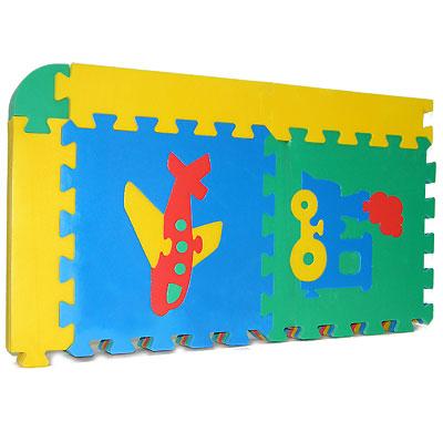 Флексика Коврик-пазл  Ассорти , 12 элементов - Игрушки для малышей