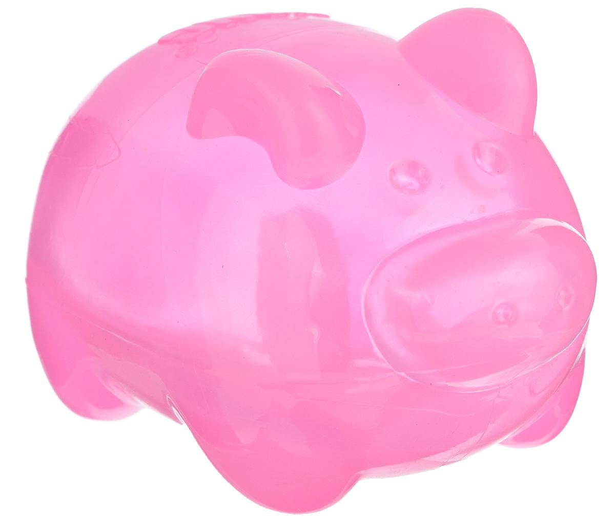 Игрушка для собак Kong Сквиз Джелс. Свинка, с пищалкой, цвет: розовый, 6 см х 6 см х 9,5 см игрушка для собак kong регби с пищалкой цвет прозрачный фиолетовый 18 х 9 х 9 см