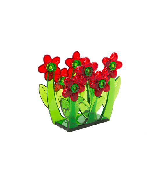 Салфетница Herevin, цвет: красный, зеленый161210-000_красныйСалфетница Herevin, изготовленная из высококачественного прочного пластика, оформлена декоративными цветами. Яркий и оригинальный дизайн несомненно придется вам по вкусу. Такая салфетница великолепно украсит праздничный стол.