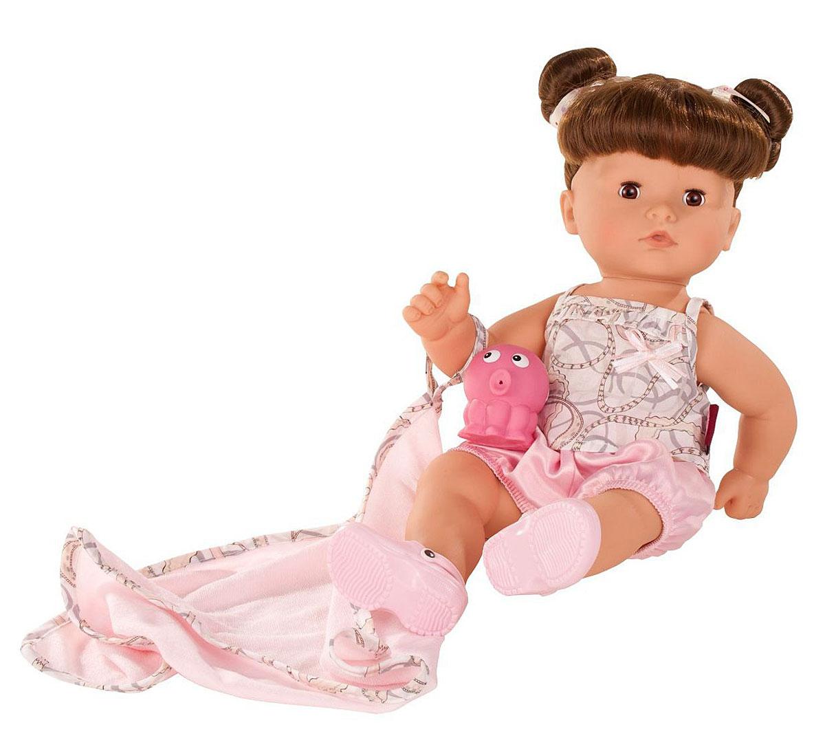 Gotz Кукла Аквини-макси шатенка с карими глазами в розовых шортах gotz пупс аквини мальчик