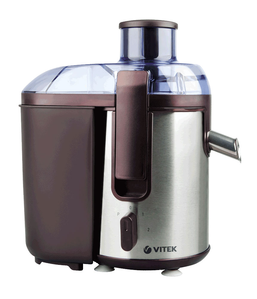 Vitek VT-3655(BN) соковыжималкаVT-3655(BN)С соковыжималкой VITEK VT-3655 BN готовить свежие соки теперь легко и просто! Данная техника отличается оригинальным дизайном, простым управлением и высокой производительностью. Именно это позволяет им быть настоящими помощниками для тех, кто ведет здоровый образ жизни. Соковыжималка VITEK VT-3655 BN станет настоящими помощниками для каждой хозяйки. За считанные минуты вы можете выжать максимальное количество сока из фруктов, овощей или ягод. Это беспечивается достаточной мощностью двигателя, высоким качеством диска-терки из нержавеющей стали и высокой производительности устройства, независимо от твердости используемых продуктов для приготовления сока.