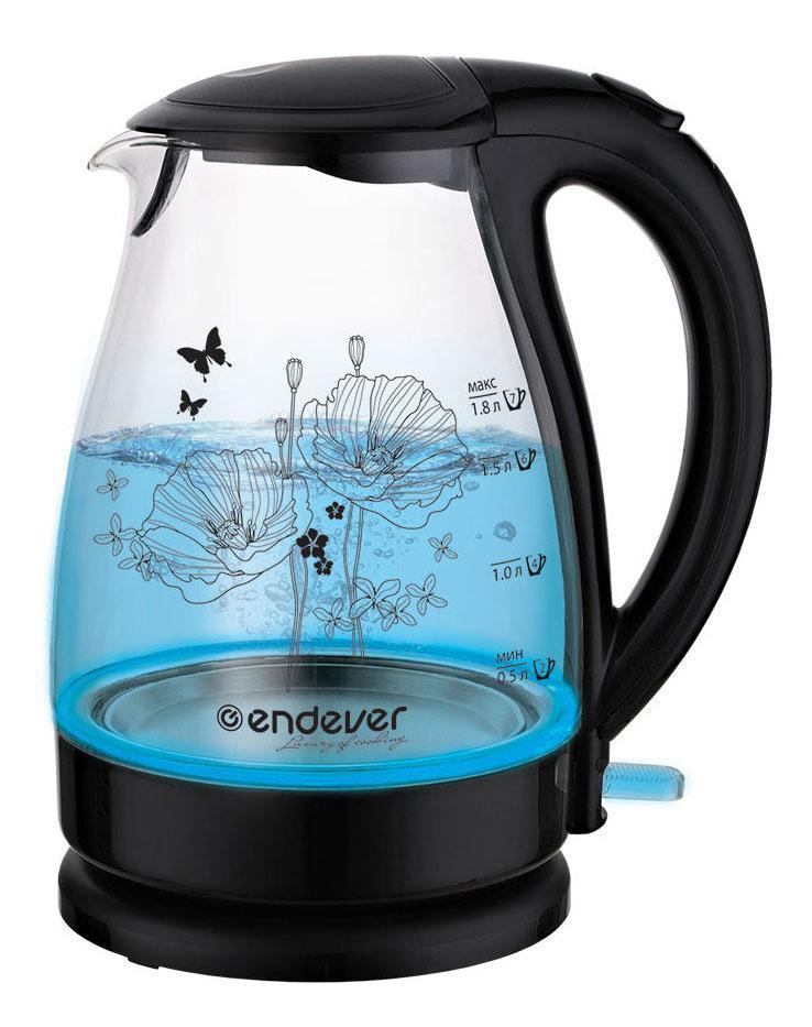Endever KR-309G электрический чайникKR-309GЭлектрический чайник – один из самых необходимых электроприборов на любой кухне. Чайник Endever SkyLine KR-309G – это высокое качество изготовления, современный дизайн, стильная расцветка. Чайники Endever SkyLine KR-309G – модель из термостойкого био-стекла, выполненная в классическом элегантном дизайне с внутренней светодиодной подсветкой и оригинальным рисунком на корпусе. Кроме того модель SkyLine KR-308G оснащена дисковым нагревательным элементом и контроллером STRIX, обеспечивающим 15000 циклов закипания. Он украсит интерьер любой кухни и создаст прекрасное настроение!
