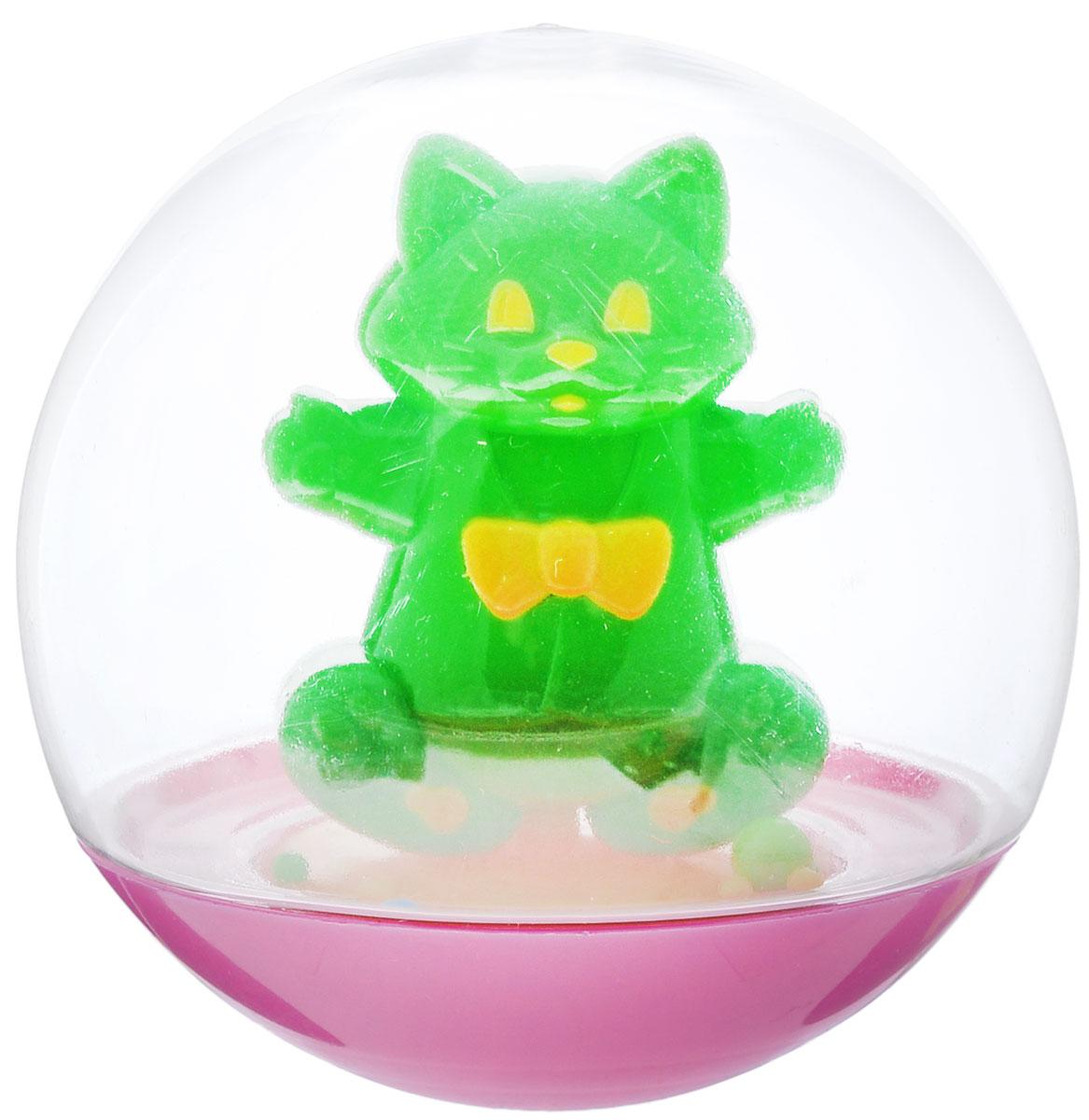 Stellar Погремушка-неваляшка Кот цвет зеленый