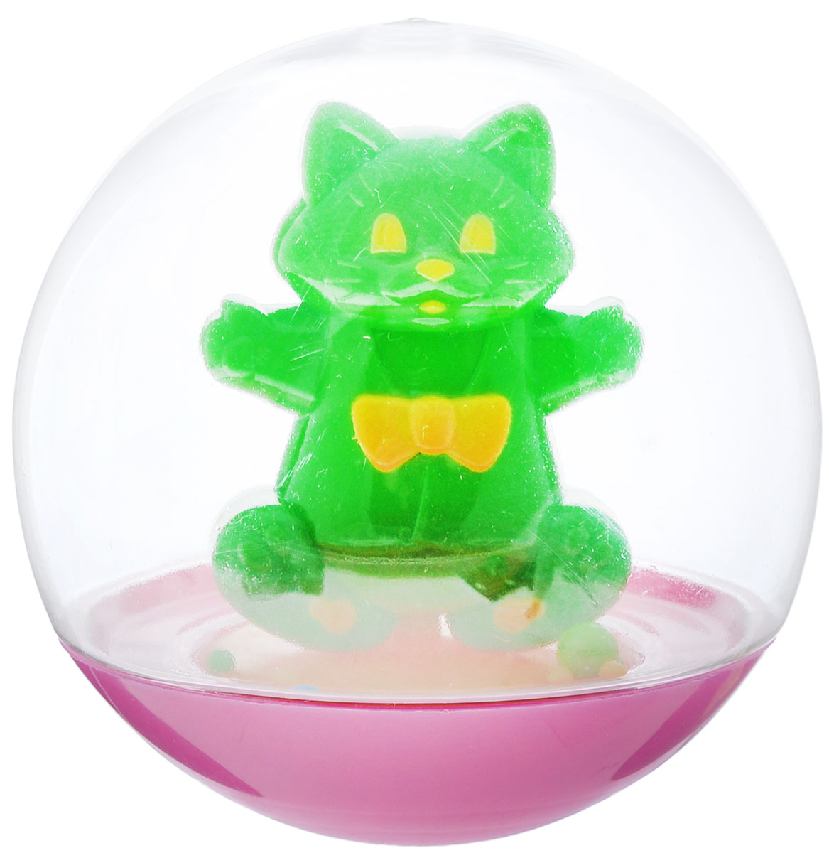 Stellar Погремушка-неваляшка Кот цвет зеленый погремушки стеллар галактика