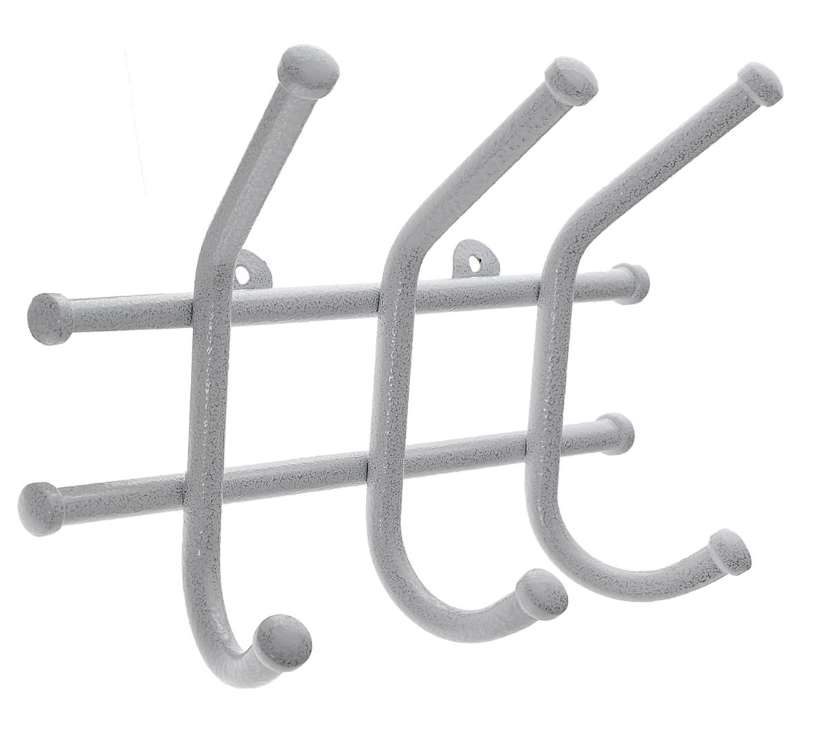 Вешалка настенная ЗМИ Норма 3, цвет: белый, 3 крючка