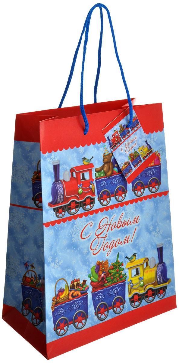 Пакет подарочный Феникс-Презент Новогодний паровозик, 17,8 х 22,9 х 9,8 см38540Подарочный пакет Феникс-презент Новогодний паровозик, изготовленный из плотной бумаги, станет незаменимым дополнением к выбранному подарку. Дно изделия укреплено картоном, который позволяет сохранить форму пакета и исключает возможность деформации дна под тяжестью подарка. Пакет выполнен с глянцевой ламинацией, что придает ему прочность, а изображению - яркость и насыщенность цветов. Для удобной переноски на пакете имеются две ручки из шнурков.Подарок, преподнесенный в оригинальной упаковке, всегда будет самым эффектным и запоминающимся. Окружите близких людей вниманием и заботой, вручив презент в нарядном, праздничном оформлении.Размер: 17,8 см х 22,9 см х 9,8 см.