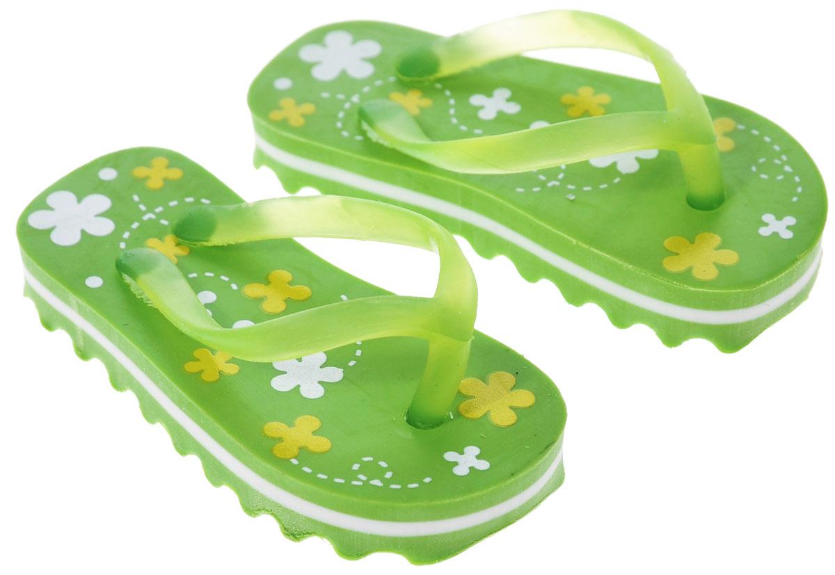 Brunnen Ластик Пляжные тапочки цвет зеленый 2 шт
