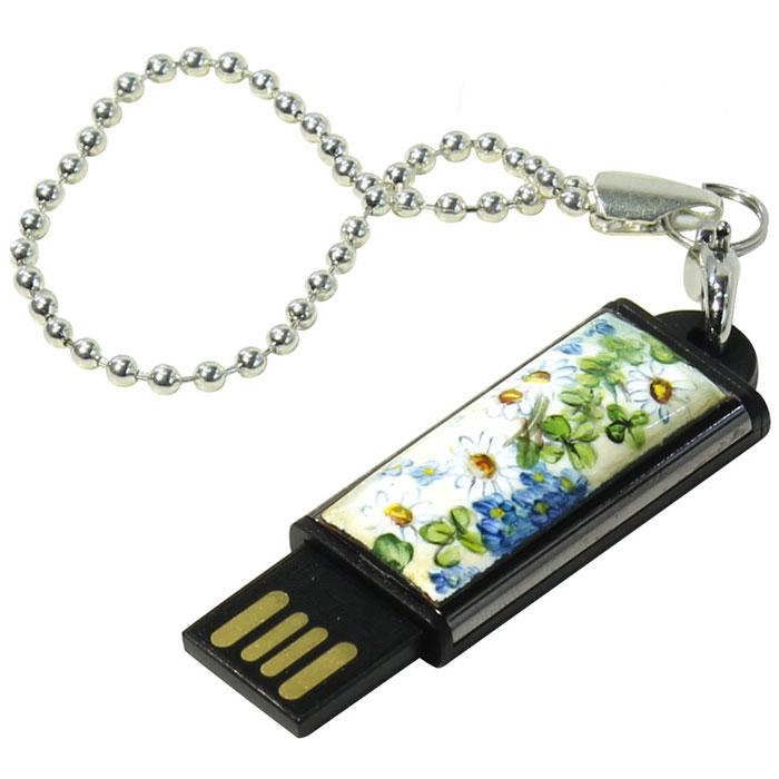 Iconik Ромашки 8GB USB флеш-накопительMTFF-CHAM-8GBФлеш-накопитель Iconik Ромашки имеет декоративную панель с рисунком ромашек. У накопителя пластиковый ударопрочный корпус, а высокая пропускная способность и поддержка различных операционных систем делают его незаменимым. Для удобства предусмотрена петля для шнурка.Пропускная способность интерфейса: 480 Мбит/секСовместимость: Windows 8, Windows 7, Windows Vista, Linux, MAC OS X