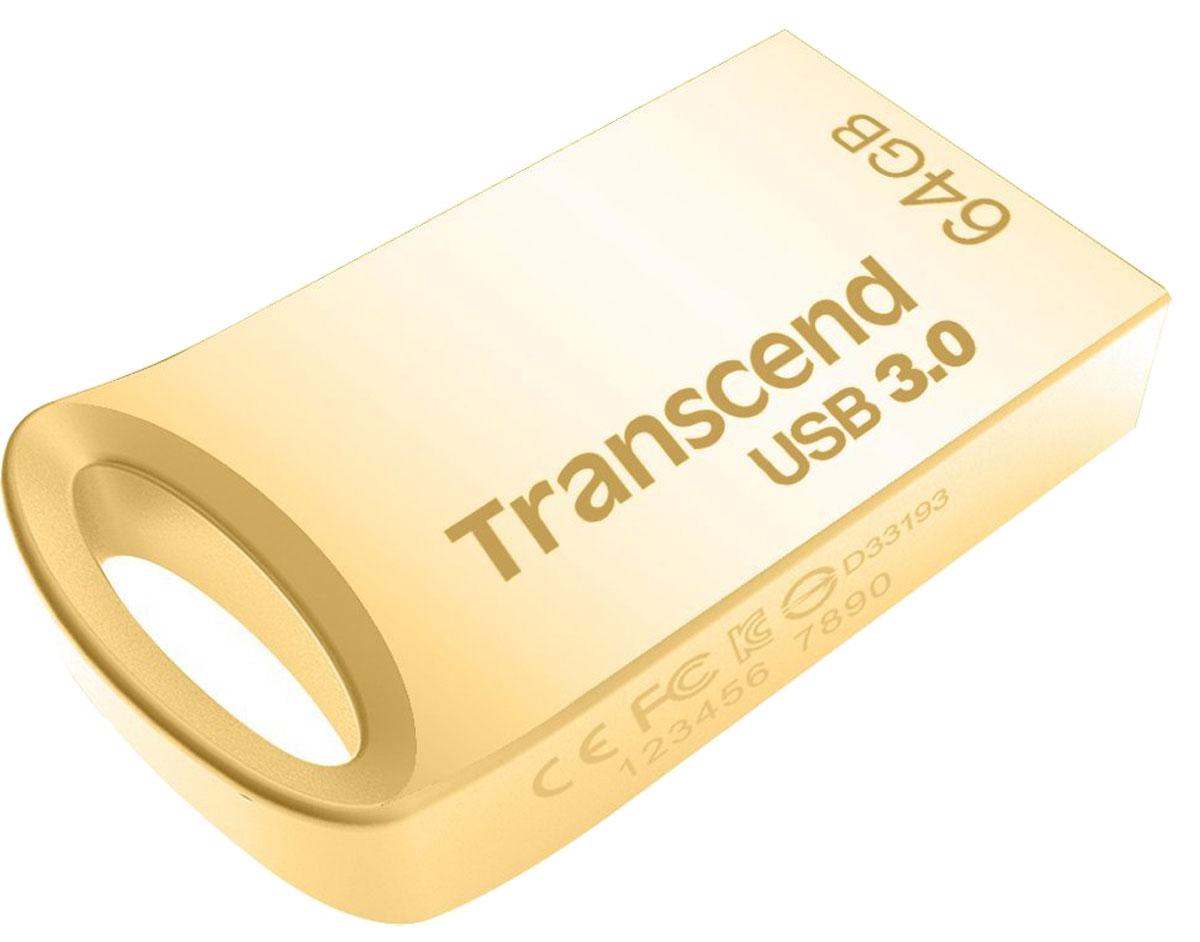 Transcend JetFlash 710 64GB, Gold USB-накопитель - Носители информации