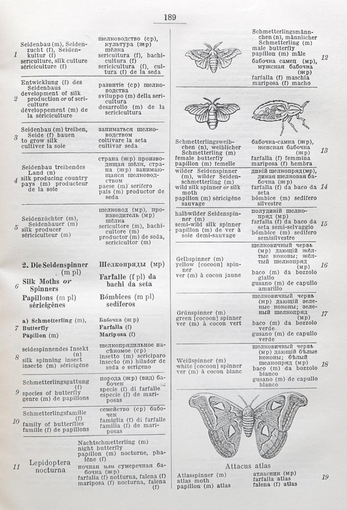 Illustrierte Technische Worterbucher. Band XIV. Faserrohstoffe.