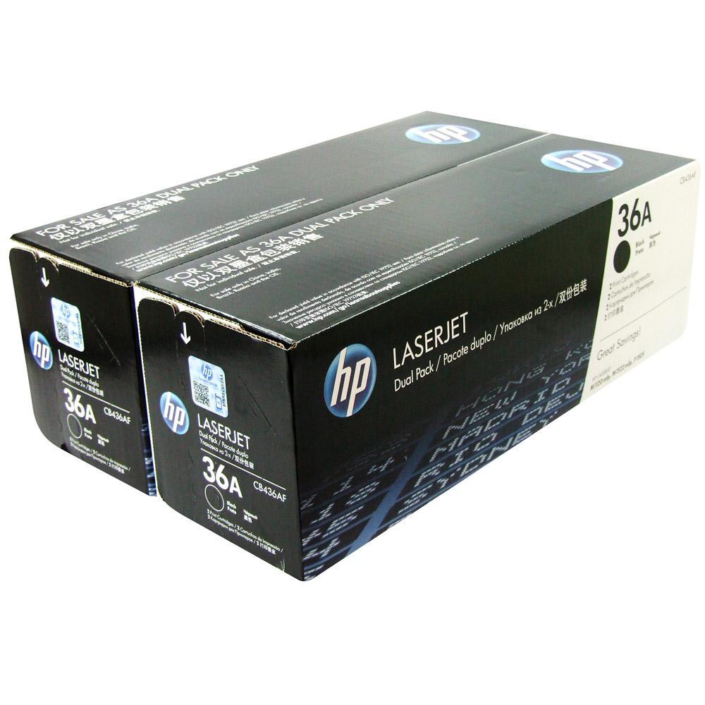 HP CB436AF (36A), Black тонер-картридж для LaserJet M1120/M1522n/P1505CB436AD/CB436AFЭкономичная сдвоенная упаковка картриджей HP CB436AF с чернилами для принтеров HP Laser Jet. Оригинальные расходные материалы HP удобны в приобретении, управлении и использовании. Удобные сдвоенные упаковки оригинальных черных картриджей для принтеров HP LaserJet позволяют свести время простоев к минимуму. Доступная и надежная печать каждый деньНаилучшее качество с оригинальными чернилами HPТехнология печати: Лазерная