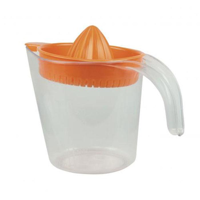 Соковыжималка для цитрусовых Альтернатива, ручная, с мерным стаканом, цвет: оранжевый, 1,1 л соковыжималка для цитрусовых berghoff leo ручная 13 х 7 см