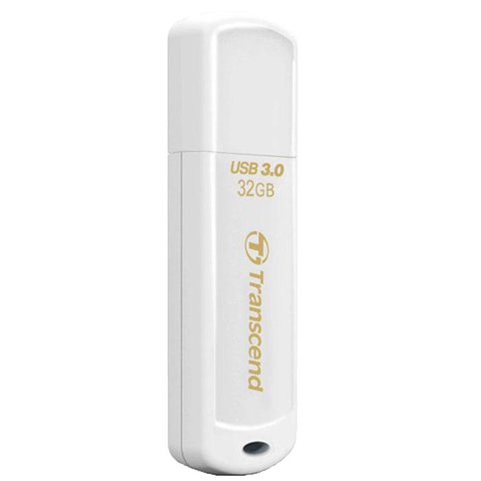 Transcend JetFlash 730 32GB, White USB-накопительTS32GJF730Те, кто всегда ценил в вещах качество, оценят элегантный и выразительный дизайн USB-накопителя Transcend JetFlash 730. Утончённый вид JetFlash 730 в белом исполнении соединил в себе стойкость и лёгкость пластиковогокорпуса, который не только красиво выглядит, но и надёжно защищает важную информацию, куда бы вы не пошли.