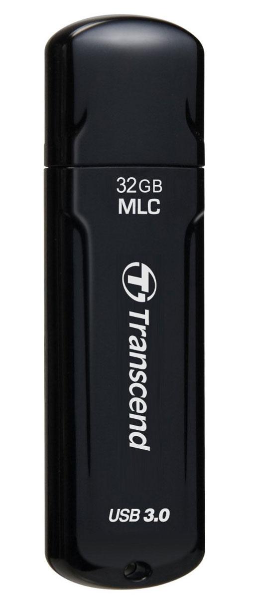 Transcend JetFlash 750 32GB, Black USB-накопительTS32GJF750KФлэш-накопитель JetFlash 750, оснащенный интерфейсом SuperSpeed USB 3.0 и изготовленный на базе флеш-памяти типа MLC NAND, обеспечивает не только сверхбыструю скорость, но и также высокую надежность при передаче данных. JetFlash 750, выполненный в глянцевом корпусе черного цвета, сочетает в себе элегантность и технологии.