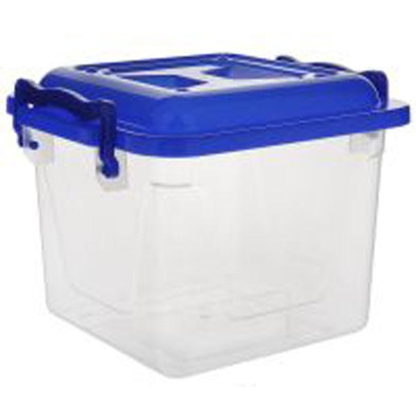 Контейнер Альтернатива, цвет: синий, прозрачный, 4 лМ1021Контейнер Альтернатива выполнен из прочного пластика. Он предназначен для храненияразличных бытовых вещей и продуктов. Контейнер оснащен по бокам ручками, которые плотно закрывают крышку контейнера. Контейнер поможет хранить все в одном месте, он защитит вещи от пыли, грязи и влаги.