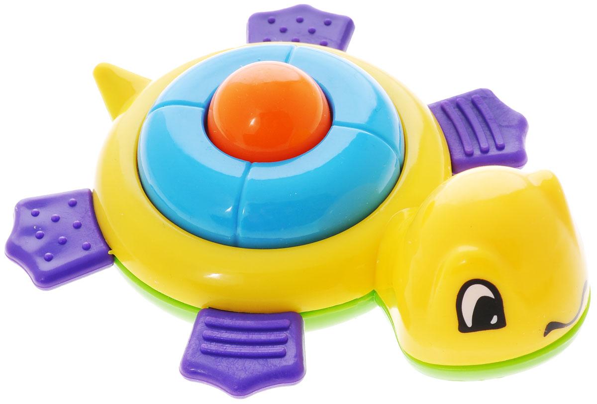 Развивающая игрушка-погремушка Mioshi Черепашка, цвет: желтый mioshi автомобиль xeno v 1 18 р у mioshitech