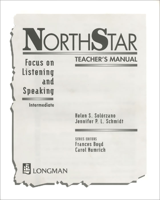 NorthStar: Focus on Listening and Speaking: Intermediate: Teacher's Manual sherry preiss northstar listening
