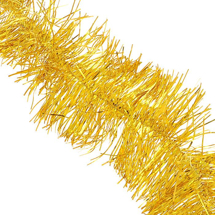 Мишура новогодняя Феникс-презент Magic Time, цвет: золотистый, диаметр 12 см, длина 200 см. 3488038273Новогодняя мишура Феникс-презент Magic Time, выполненная из ПЭТ (Полиэтилентерефталат), поможет вам украсить свой дом кпредстоящим праздникам. Изделие выполнено в виде скрученной косички. Новогодняя елка с таким украшениемстанет еще наряднее. Мишура армирована, то есть имеет проволоку внутри и способна сохранять форму. Новогодней мишурой можно украсить все, что угодно - елку, квартиру, дачу, офис - как внутри, так и снаружи.Можно сложить новогодние поздравления, буквы и цифры, мишурой можно украсить и дополнить гирлянды, можновыделить дверные колонны, оплести дверные проемы. Коллекция декоративных украшений из серии Феникс-презент Magic Time принесет в ваш дом ни с чем несравнимое ощущениеволшебства! Создайте в своем доме атмосферу тепла, веселья и радости, украшая его всей семьей.