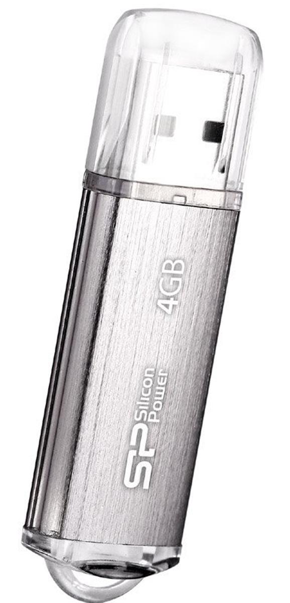 Silicon Power Ultima II l-Series 4GB, Silver USB-накопительSP004GBUF2M01V1SUSB-накопитель Silicon Power Ultima II l-Series имеет современный алюминиевый корпус с матовой поверхностью, защищенной от царапин и отпечатков пальцев. LED-индикация показывает статус работы. Благодаря системе Рlug and play накопитель не требует внешних источников питания. Совместим со стандартом RoHS. Бесплатная загрузка программного обеспечения SP Widget с 7 основными функциями для максимизации работы USB накопителя.