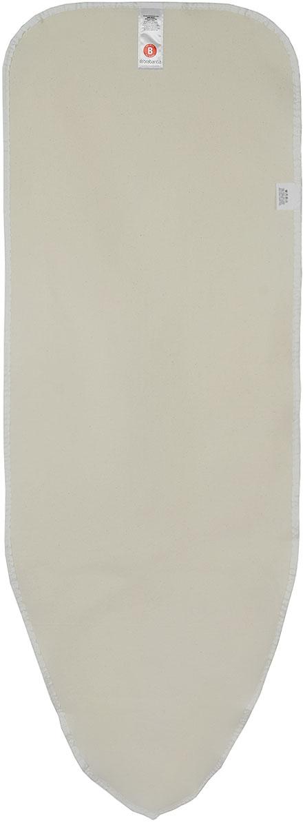 Чехол для гладильной доски Brabantia Perfect Fit, цвет: экрю, 2 мм, 124 х 38 см. 191442191442_бежевыйИдеальная поверхность для глажения и отпаривания. Плавное скольжение утюга – верхний чехол из 100% хлопка. Удобное глажение – подкладка из 2 мм поролона для упругости. Удобная фиксация на доске и отличное натяжение чехла – затягивающий шнур и стяжки. Цветовая маркировка позволяет быстро и точно подобрать нужный чехол.