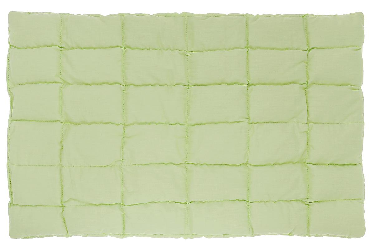 Био-подушка Непотейка из лузги гречихи, цвет: салатовый, 60 см х 35 смPG0067_салатовыйБио-подушка Непотейка создана специально для маленьких детей - от рождения до 2 лет. Сшита она вручную по особой технологии и состоит из хлопка и тонкого слоя лузги гречихи. Педиатры рекомендуют для детей плоские подушки, и мы рекомендуем вам эту био-подушку высотой 2 см. Лузга гречихи обладает мягким массажным эффектом и эффектом кондиционирования, на ней не жарко летом и комфортно зимой - это полностью натуральный природный наполнитель, который равномерно распределен в прошитых квадратах. Непотейка очень удобна, она сшита по ширине детской кроватки и может накрываться пеленкой или простынкой вместе с матрасом. Особенности подушки:Ортопедический эффект; Эффект микро-массажа; Эффект кондиционирования; Гипоаллергенна; Гигиенична; Улучшает кровообращение; Антистатический эффект; Снимает нервное напряжение.
