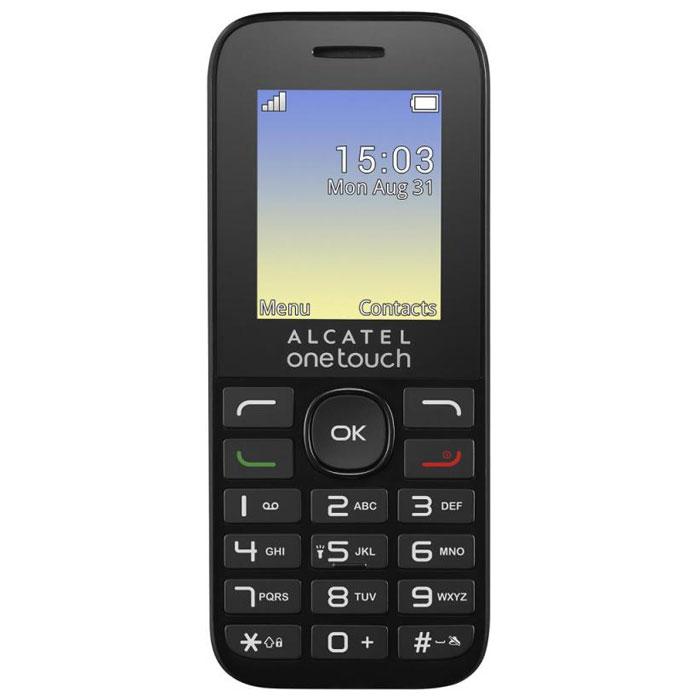 Alcatel OT-1016D Dual, Volcano Black1016D-3AALRU1Alcatel OT-1016D Dual поддерживает работу с двумя SIM-картами в режиме ожидания, за счет чего он может использоваться в качестве личного и рабочего одновременно. Кроме того, наличие двух карт позволяет эффективно управлять тарифами различных мобильных операторов, уменьшая уровень расходов.Дисплей телефона с диагональю 1,8 дюйма создан с применением технологии TFT. Благодаря этому картинка на нем всегда выглядит яркой и контрастной. Экран поддерживает отображение 65 тысяч цветов.Данная модель может воспроизводить файлы в формате MP3. Встроенный фонарик пригодится людям, которые часто ходят пешком в темноте, а также туристам.Полного заряда аккумулятора хватает на 6,5 часов непрерывного разговора или 300 часов (12,5 суток) работы телефона в режиме ожидания.Телефон сертифицирован Ростест и имеет русифицированную клавиатуру, меню и Руководство пользователя.