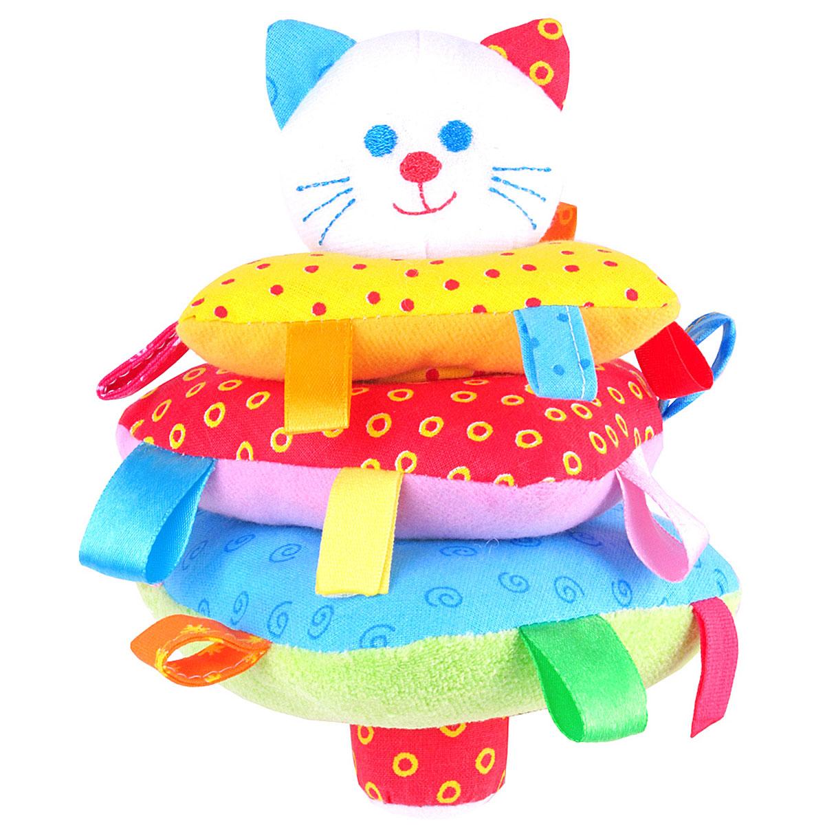 Мякиши Мягкая игрушка-пирамидка Котик  - купить со скидкой