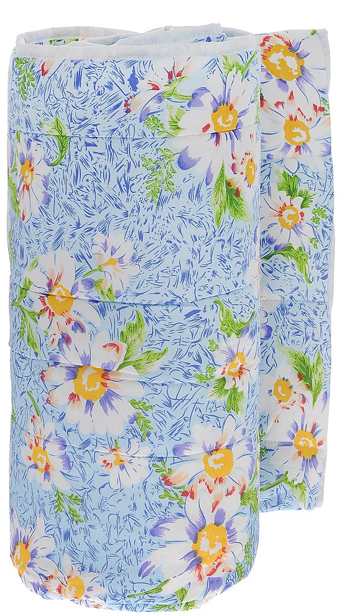 Одеяло всесезонное OL-Tex Miotex, наполнитель: полиэфирное волокно Holfiteks, цвет: голубой с цветами, 172 см х 205 смМХПЭ-18-3_голубой с цветамиВсесезонное одеяло OL-Tex Miotex создаст комфорт и уют во время сна. Стеганый чехол выполнен из полиэстера и оформлен красивым рисунком. Внутри - наполнитель из полиэфирного высокосиликонизированного волокна Holfiteks, упругий и качественный. Холфитекс - современный экологически чистый синтетический материал, изготовленный по новейшим технологиям. Его уникальность заключается в расположении волокон, которые позволяют моментально восстанавливать форму и сохранять ее долгое время. Изделия с использованием Холфитекса очень удобны в эксплуатации - их можно часто стирать без потери потребительских свойств, они быстро высыхают, не впитывают запахов и совершенно гиппоаллергенны. Холфитекс также обеспечивает хорошую терморегуляцию, поэтому изделия с наполнителем из холфитекса очень комфортны в использовании. Одеяло с наполнителем Холфитекс порадует вас в любое время года. Оно комфортно согревает и создает отличный микроклимат. Рекомендации по уходу:- Стирка при температуре 30°С.- Не гладить.- Не отбеливать. - Нельзя отжимать и сушить в стиральной машине.- Сушить вертикально. Размер одеяла: 172 см х 205 см. Материал чехла: 100% полиэстер. Материал наполнителя: полиэфирное высокосиликонизированное волокно Holfiteks. Плотность: 300 г/м2.