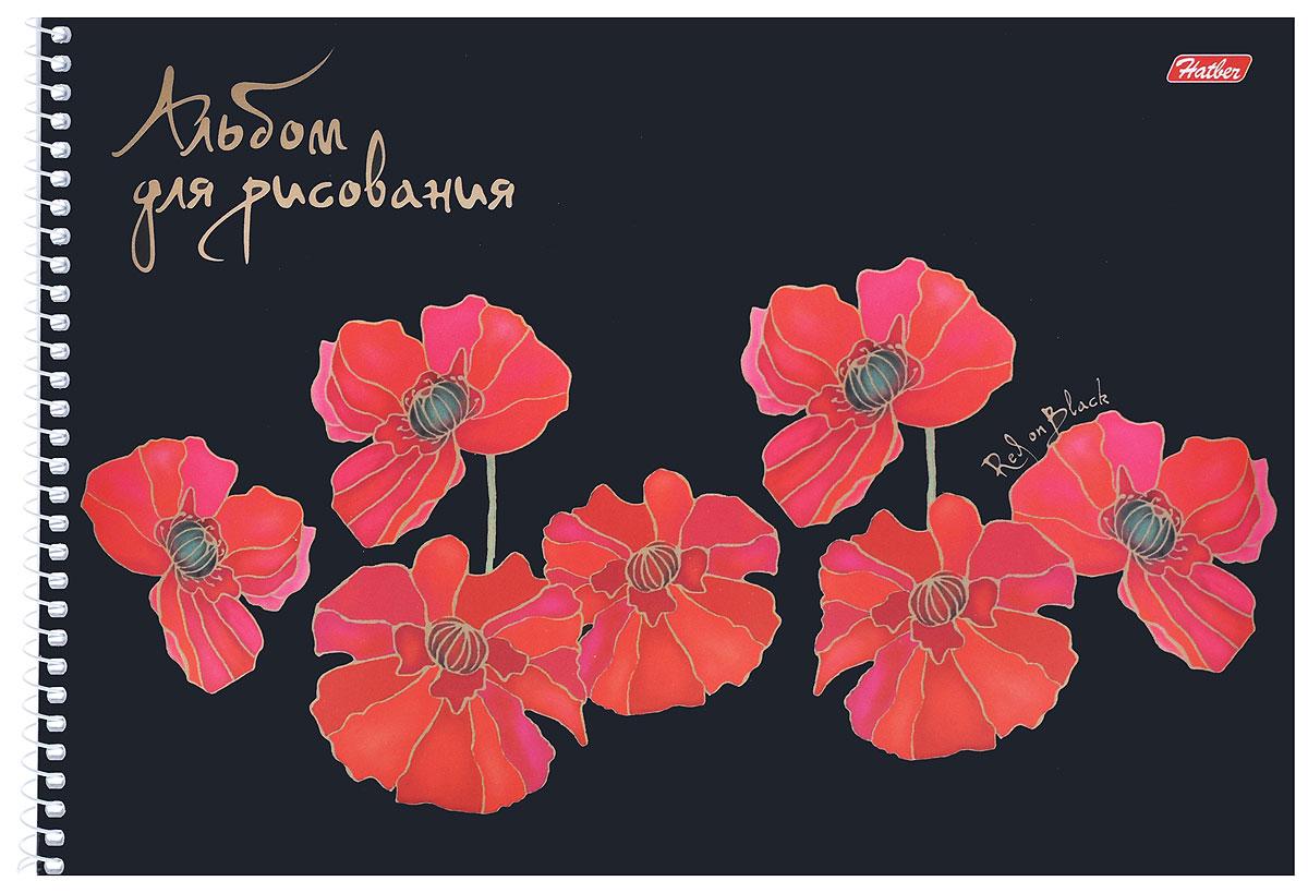 Hatber Альбом для рисования Маки, цвет: черный, 40 листов наборы для рисования molly набор для рисования ван гог цветущие маки и ромашки