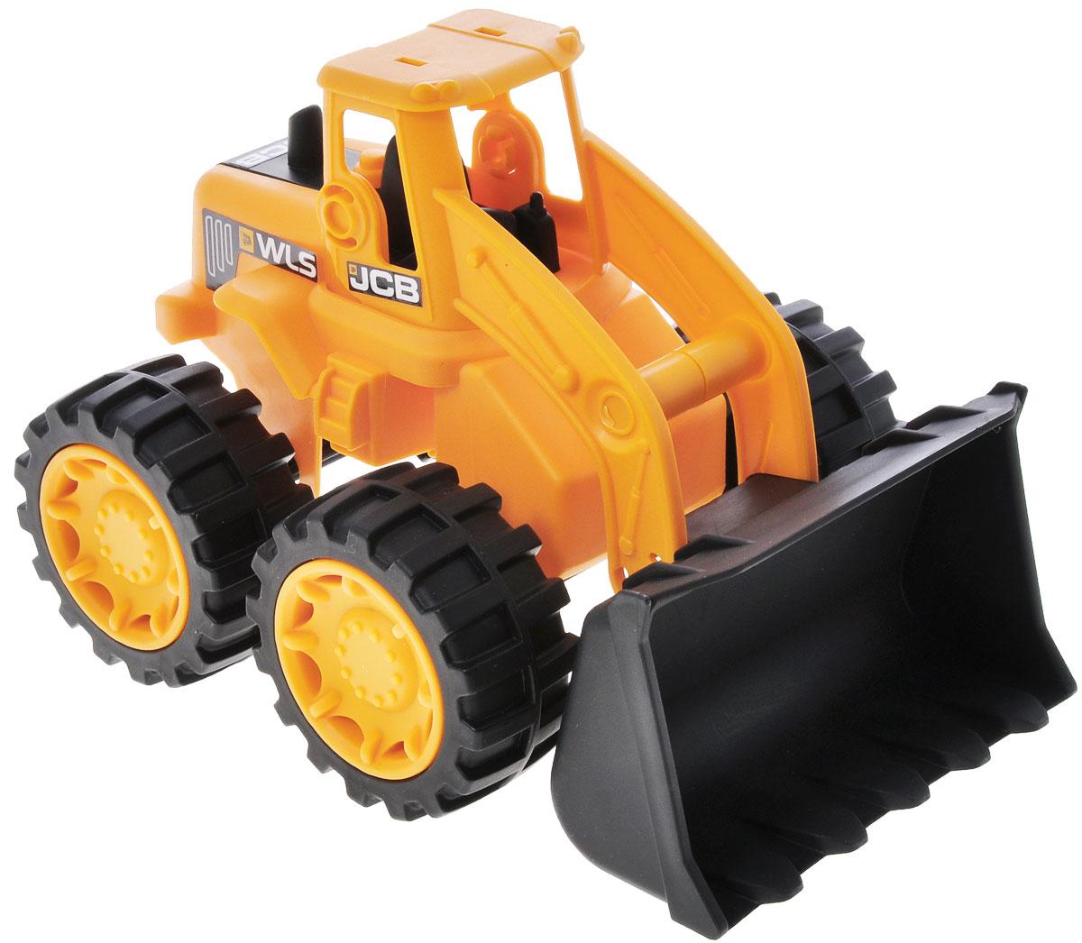 HTI Мини-бульдозер JCB машинки hti паровозик roadsterz синий с вагоном звуковыми и световыми эффектами