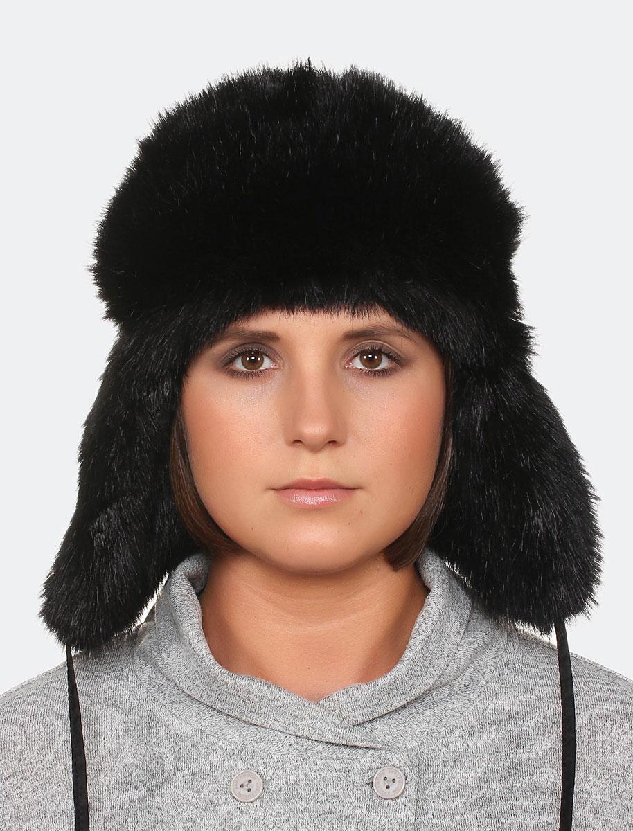 Шапка-ушанка женская Canoe Alpa, цвет: черный. 3441771. Размер 56/58